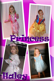 little girl in princess outfit
